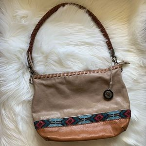 The Sak | Beaded Tan Genuine Leather Purse